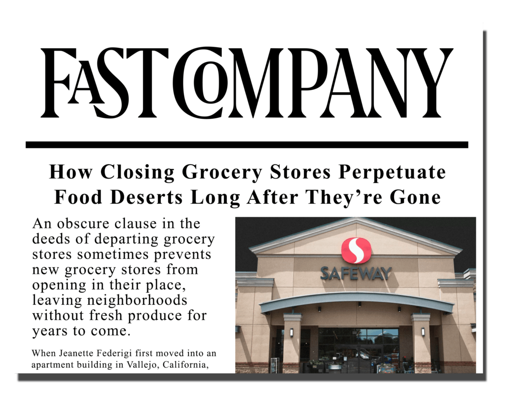 How Closing Grocery Stores Perpetuate Food Deserts Long After They're Gone.