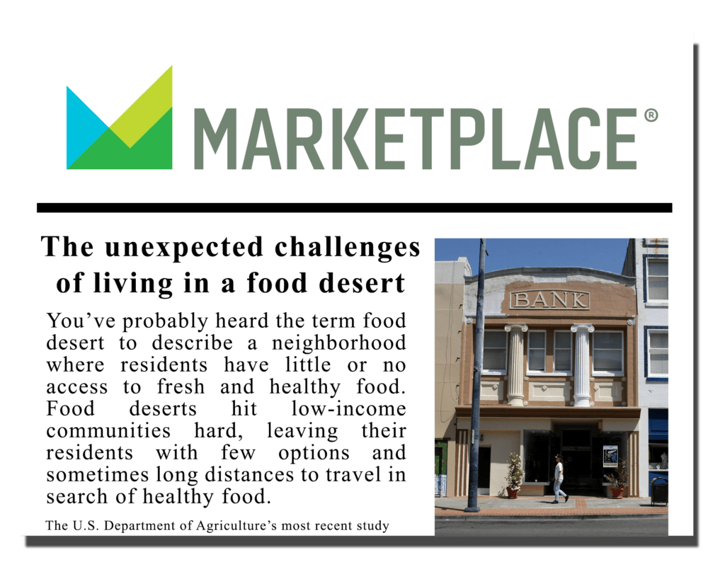 The unexpected challenges of living in a food desert