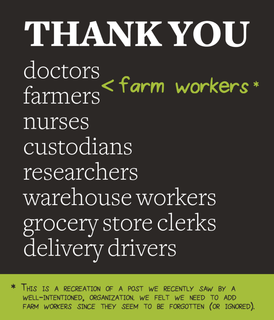 Thank You Farm Workers
