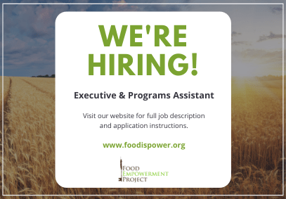 We're hiring for a Executive & Programs Assistant!