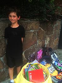 Jonah's donation!