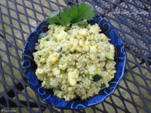 quinoa with calabacitas